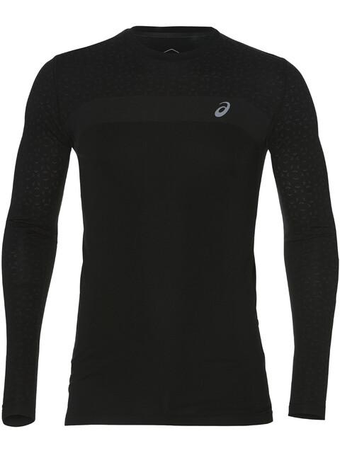 asics Seamless LS Texture Koszulka do biegania z długim rękawem Mężczyźni, performance black